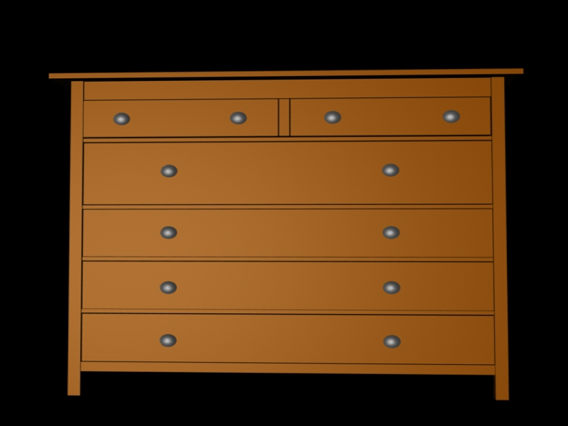 3D 3D Model Download IKEA Edition HEMNES Kommode