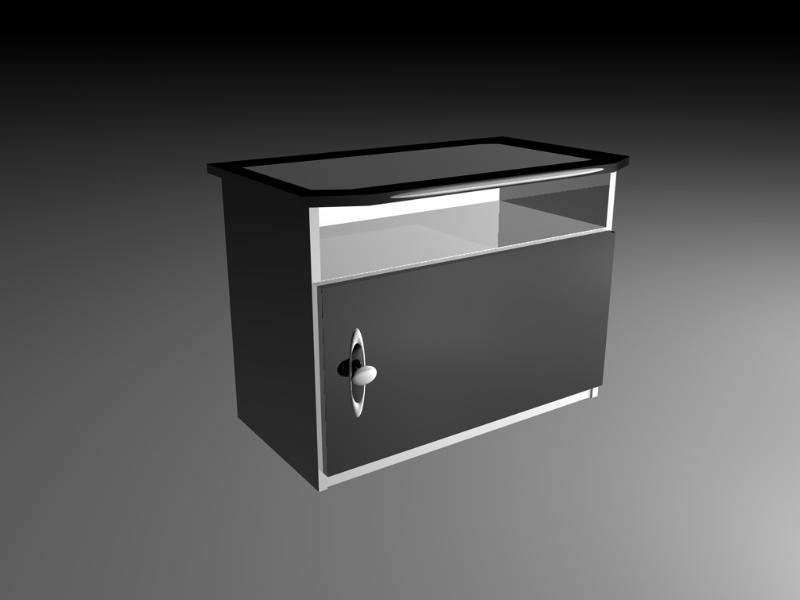 3D 3D Model Download Black'n'White - Nachttisch