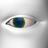 Eye blue green tiled