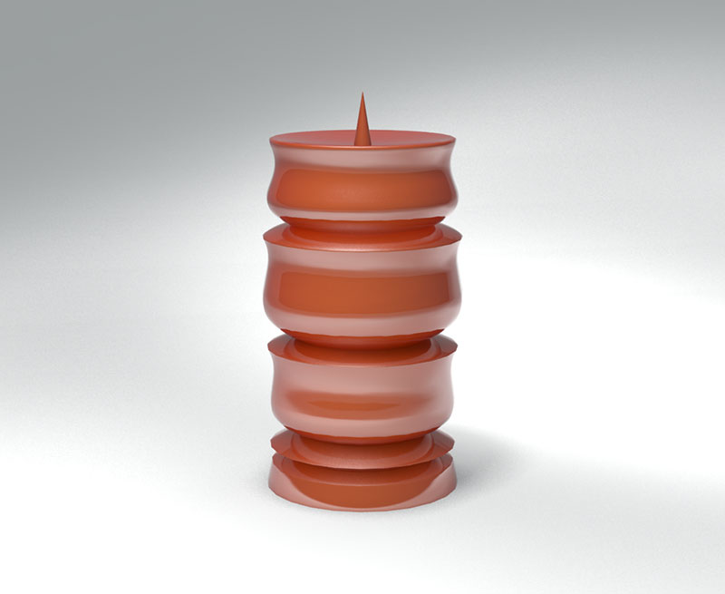 3D 3D Model Download Candle Stand 9