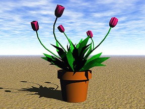 3D 3D Model Download Flower 02