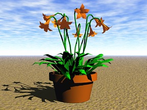 3D 3D Model Download Flower 06
