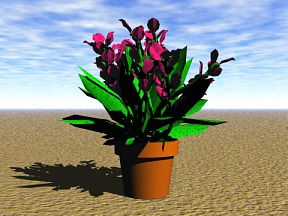 3D 3D Model Download Flower 08
