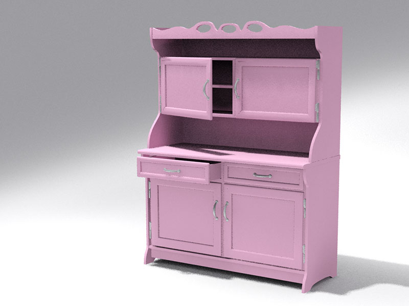3D 3D Model Download Old cabinet 1