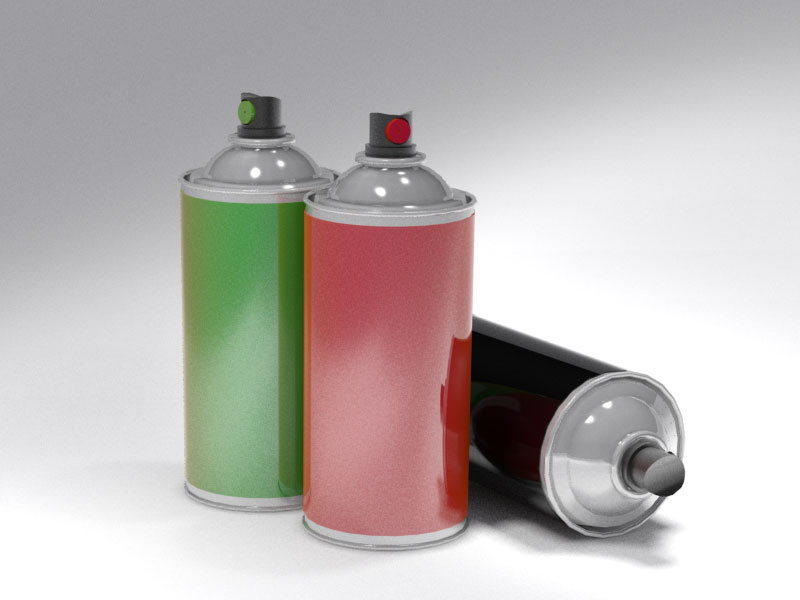 3D 3D Model Download Spray Can