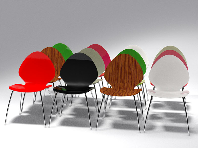 3D 3D Model Download Visitor Chair 2