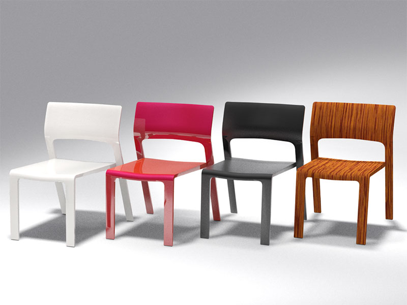 3D 3D Model Download Visitor Chair 6