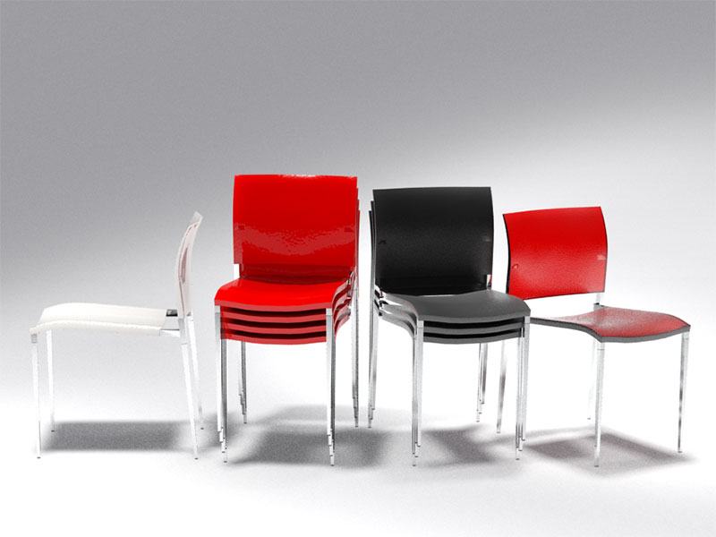 3D 3D Model Download Visitor Chair 8