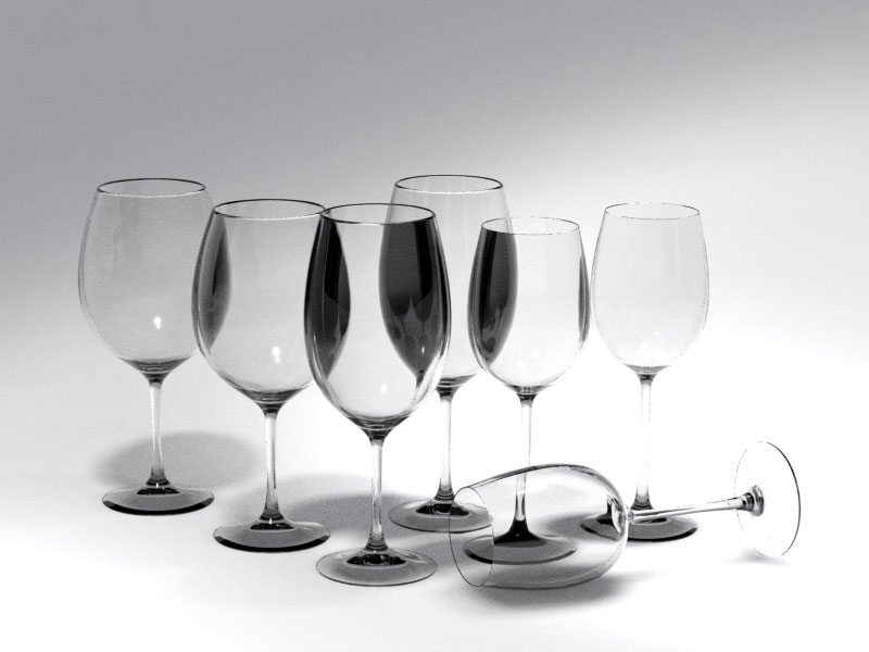 3D 3D Model Download Wine Glass 1