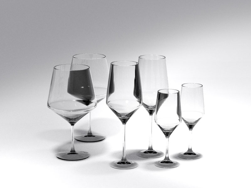 3D 3D Model Download Wine Glass 4