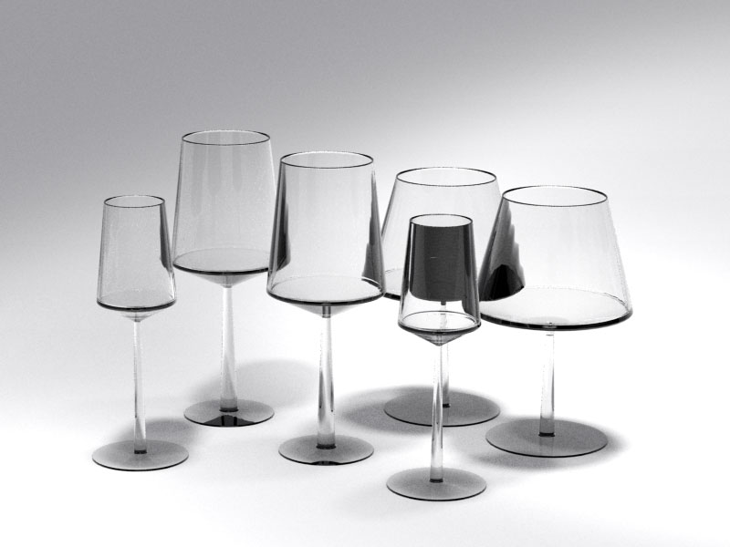 3D 3D Model Download Wine Glass 5