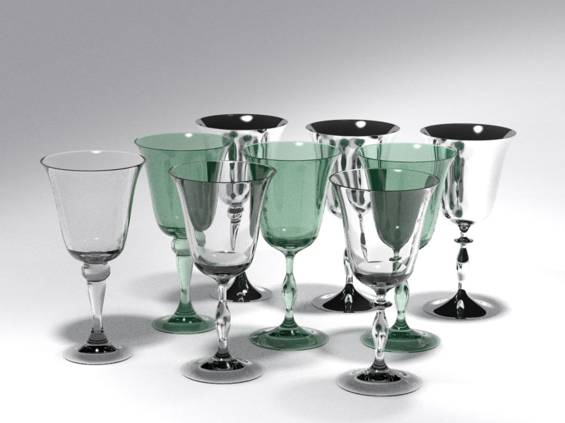 3D 3D Model Download Wine Glass 6