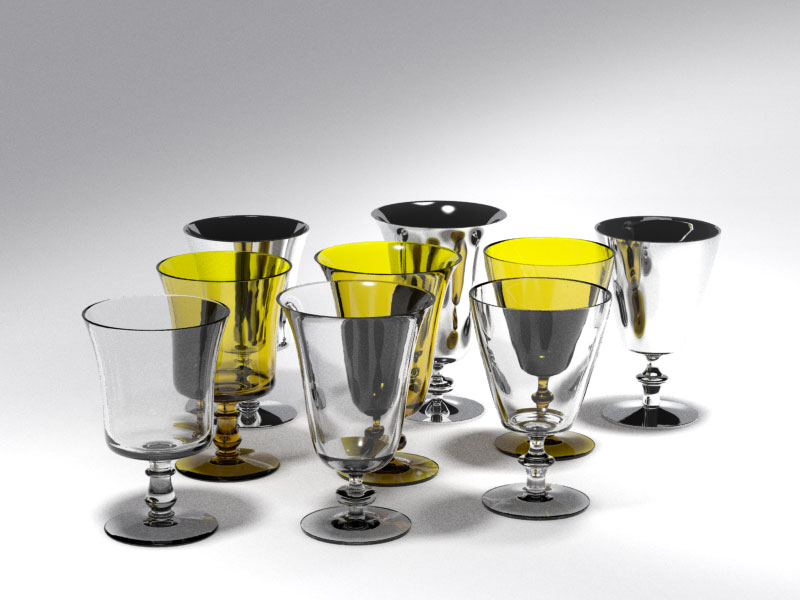 3D 3D Model Download Wine Glass 7