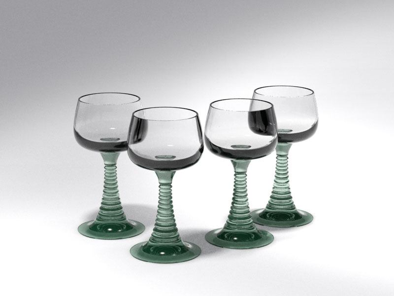 3D 3D Model Download Wine Glass 8