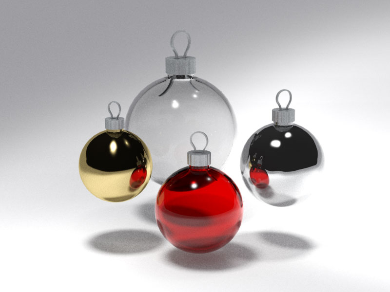 3D 3D Model Download Xmas Sphere 1