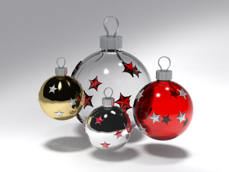 3D 3D Model Download Xmas Sphere 3