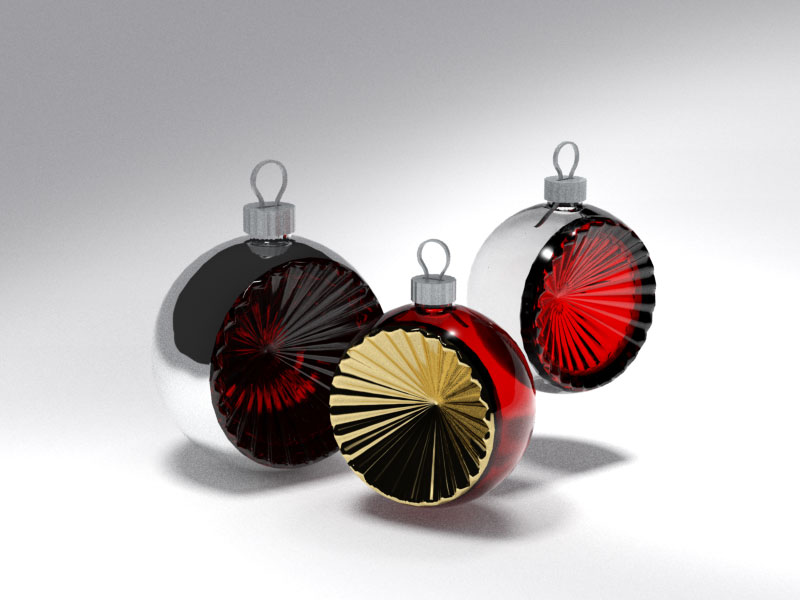 3D 3D Model Download Xmas Sphere 4