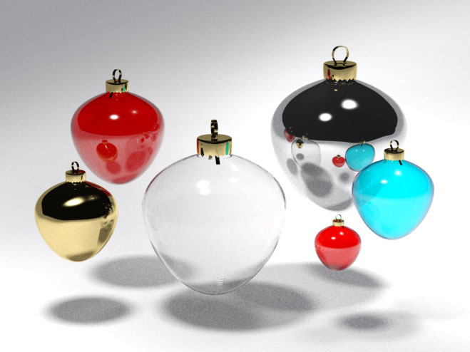 3D 3D Model Download Christmas tree ball 6