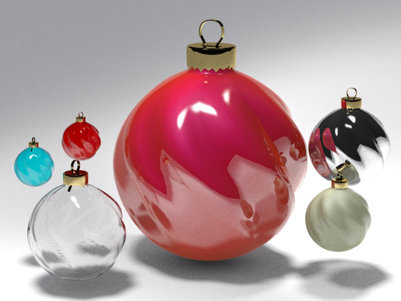 3D 3D Model Download Christmas tree ball 9