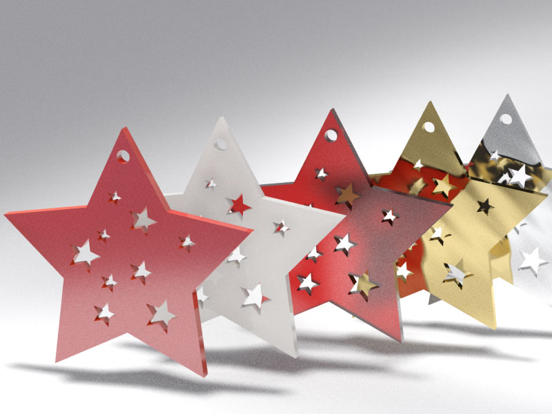 3D 3D Model Download Christmas tree star 2
