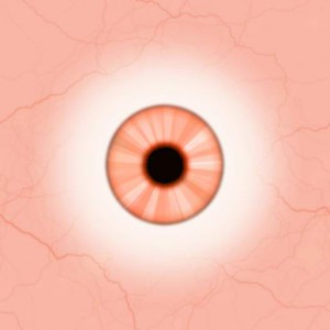 Eye red orange pastel Texture