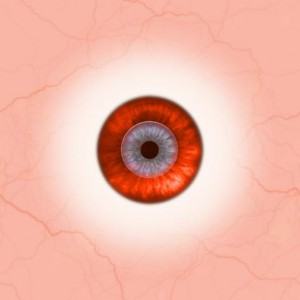 Eye red orange white tiled Texture
