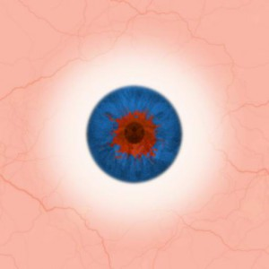 Eye blue red tiled Texture